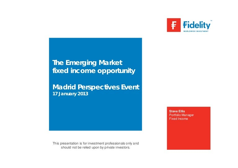 The Emerging Market Fixed Income Opportunity