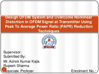 Master thesis on ofdm