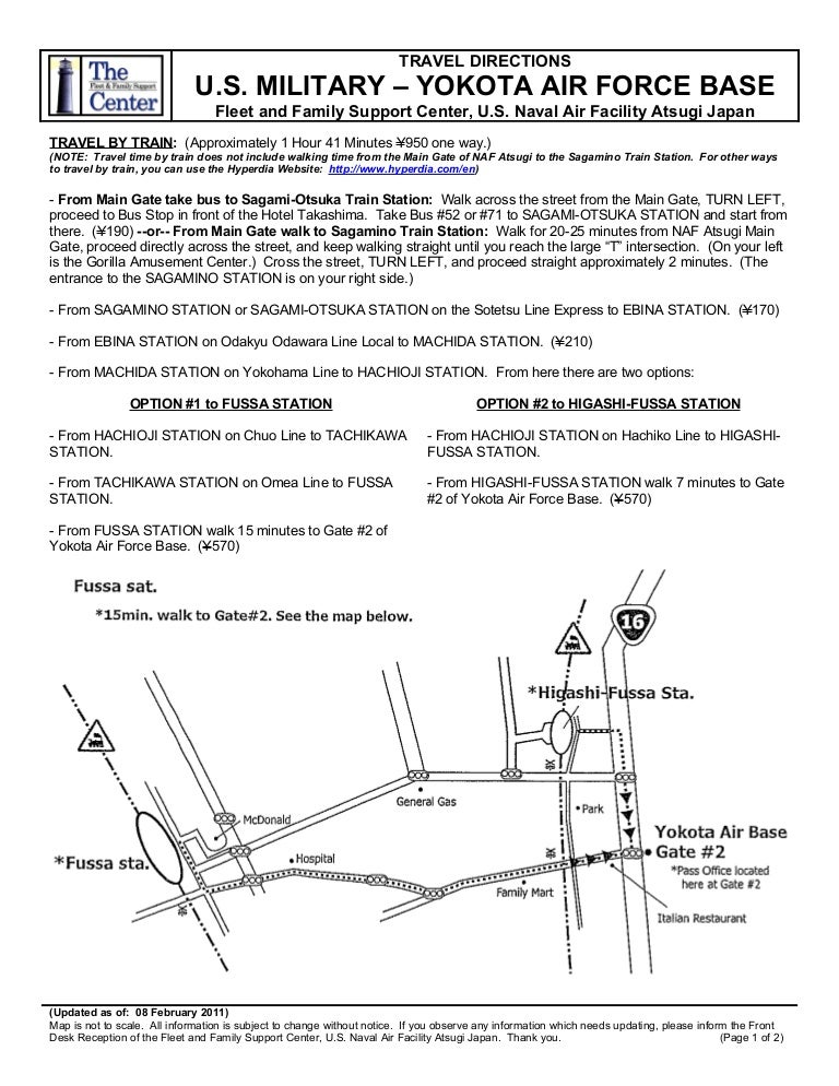 FFSC Travel Directions Yokota AB