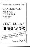 UFMG Prova única 1972 caderno par - Conteúdo vinculado ao blog      http://fisicanoenem.blogspot.com/