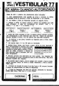 UFMG Provas Antigas 1977 azul - Conteúdo vinculado ao blog      http://fisicanoenem.blogspot.com/