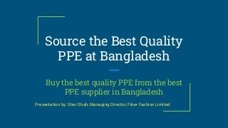 Fiber Fashion Limited - Best Garments and PPE Supplier in Bangladesh