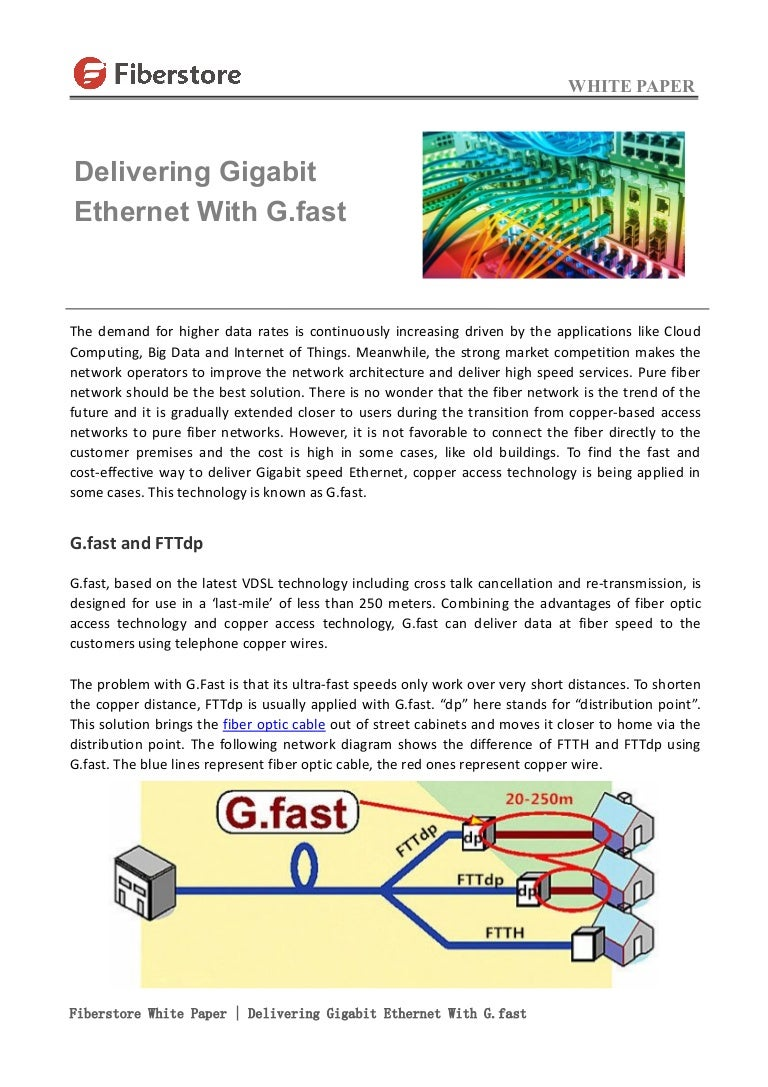 Fiberstore White Paper Delivering Gigabit Ethernet With Gfast