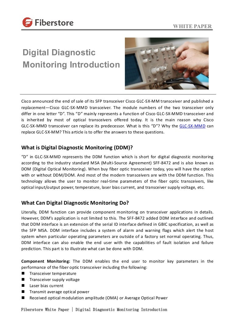 Fiberstore White Paper Digital Diagnostic Monitoring Ddm Introducti