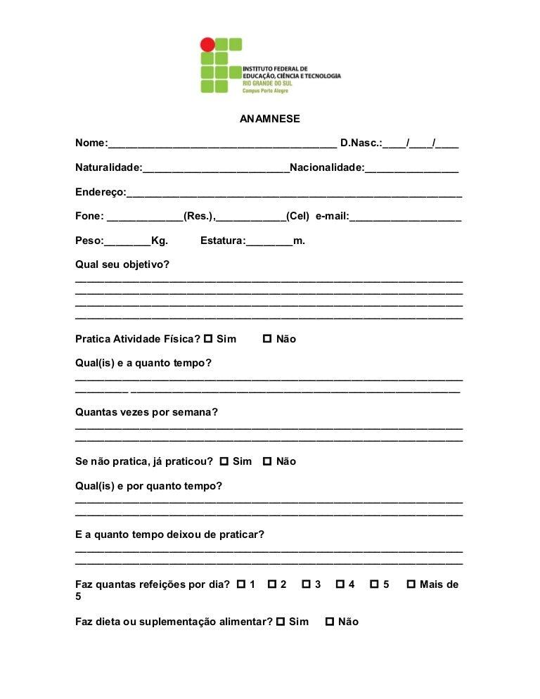 ANAMNESE ALIMENTAR PDF DOWNLOAD