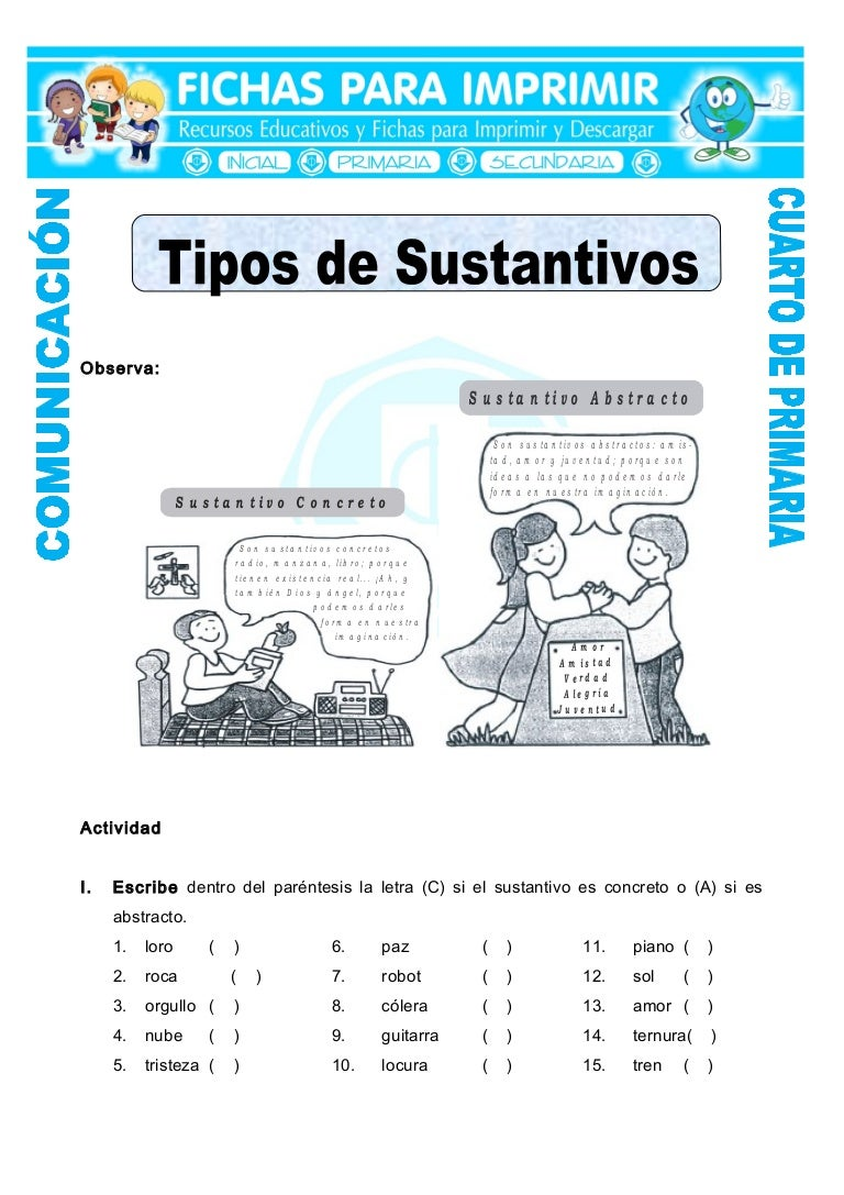 Ficha sustantivos-concretos-y-abstractos-para-cuarto-de-primaria