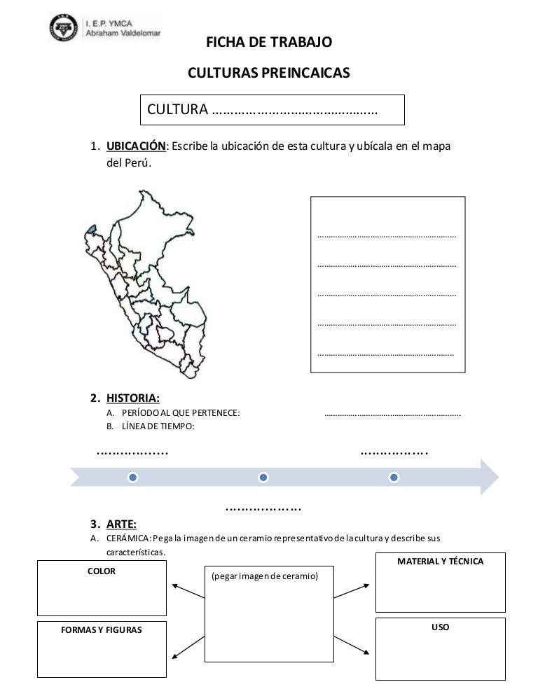 Ficha de trabajo culturas preincas