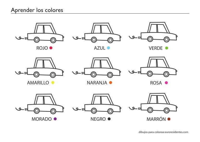Dibujos Para Aprender A Colorear: Fichas Aprender-los-colores
