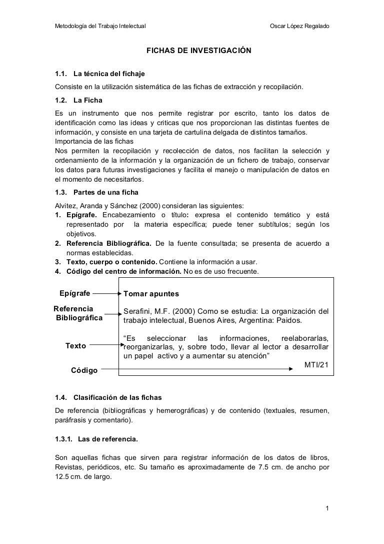 Fichas de Investigación - Estilo APA