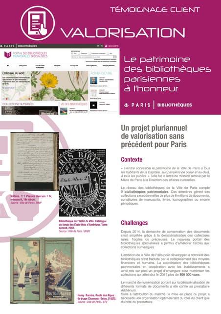 Les bibliothèques de Paris numérisent avec Arkhênum
