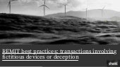 Fictitious Devices or Deception : Transactions : REMIT