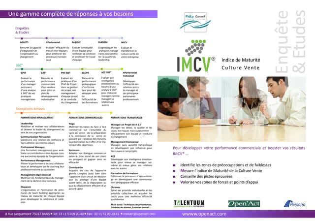 IMCV - Indice de Maturité de la Culture vente