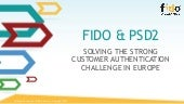 FIDO & PSD2: Solving the Strong Customer Authentication Challenge in Europe