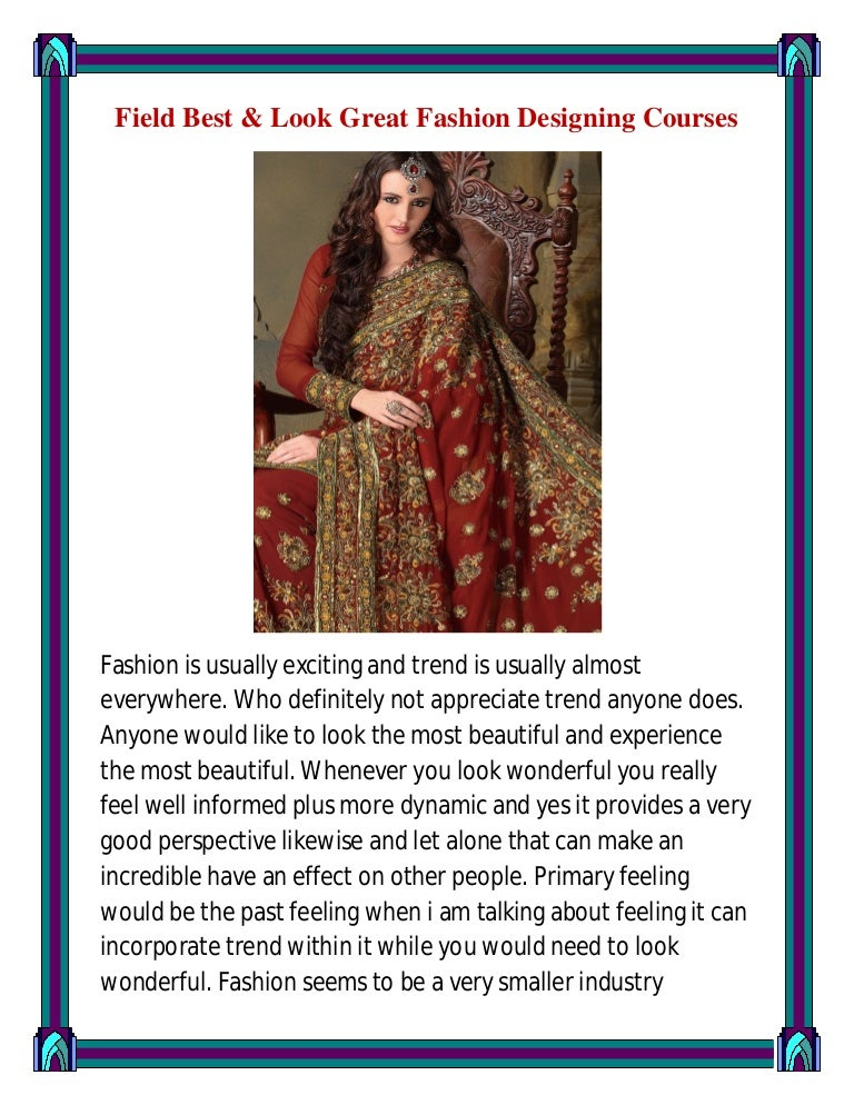 Field Best Look Great Fashion Designing Courses