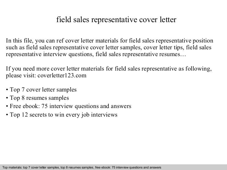 field sales representative cover letter - Sales Representative Cover Letter Samples