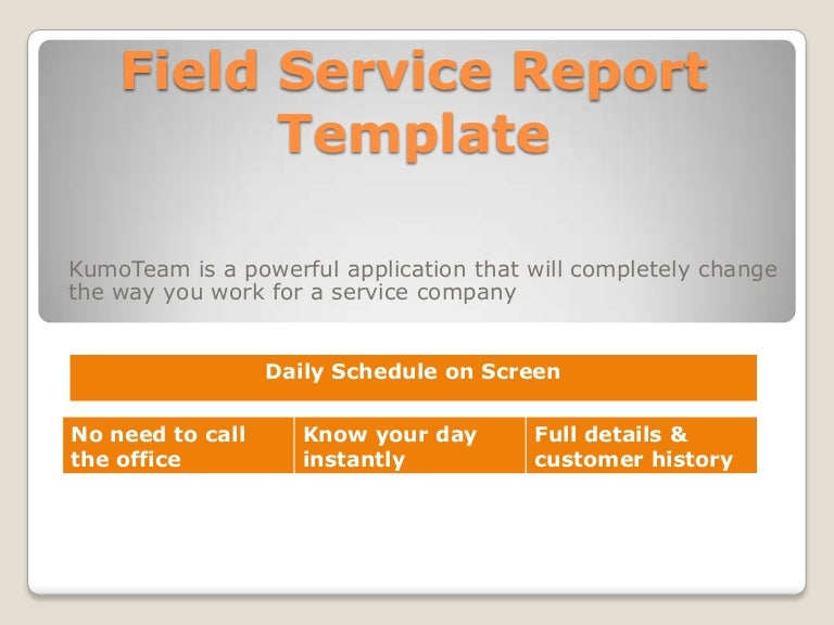 daily service report format melo in tandem co