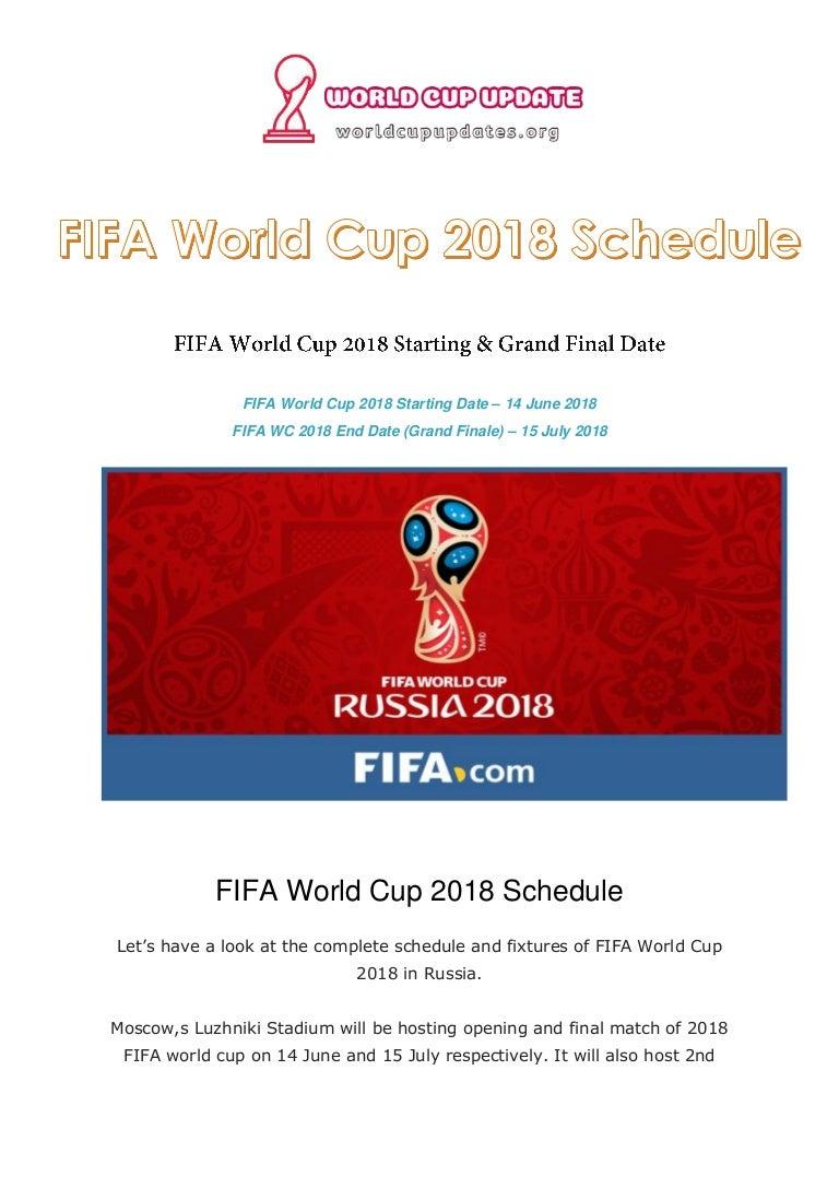 fifa world cup schedule pdf