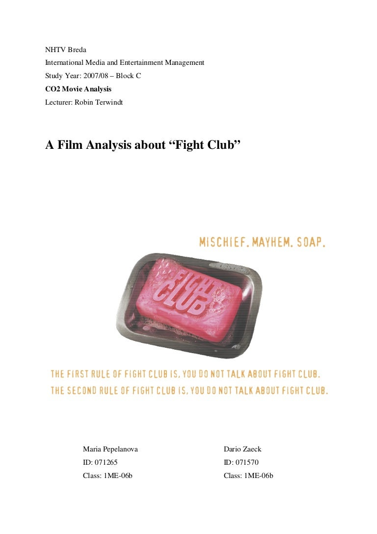 fight club film analysis