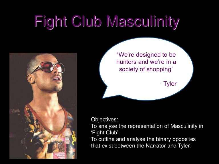 fight club and feminism essay Fight club directed by david fincher is one man's struggle to gain control over his life he however has become so feminized by his upbringing and society that the only way he can do this is to create an alternate personality the narrator's alternate personality is tyler durden, the ultimate alpha.
