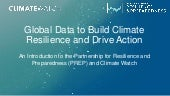 Global Data to Build Climate Resilience and Drive Action