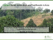 Upland forest restoration and livelihoods in Asia