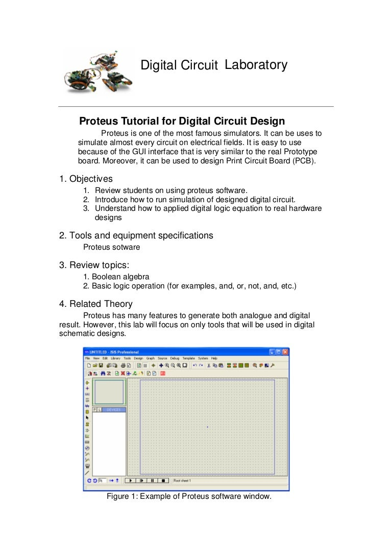 File 1 Proteus Tutorial For Digital Circuit Design Understand Basic Theory Designing Electronic Circuits