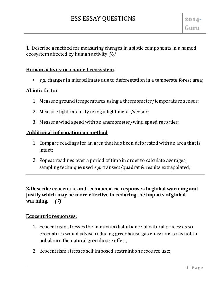 problem of global warming essay