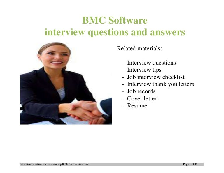 BMC Software Interview Questions And Answers