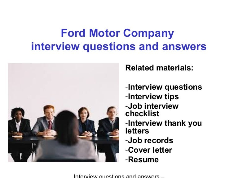 Ford Motor Company Interview Questions And Answers Pdf Ebook