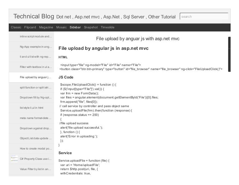 File upload by anguar js with asp