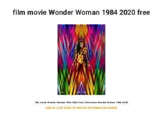 film movie Wonder Woman 1984 2020 free