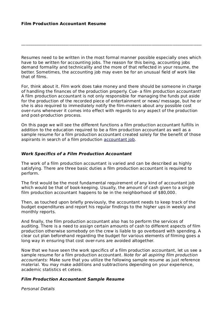 tax accountant resume sample sample resume accountant staff tax sample resume accountant production stay home mom film filmproductionaccountantresume - Tax Accountant Resume Sample