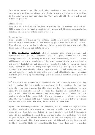 Production Coordinator Cover Letter | Resume Cover Letter Samples