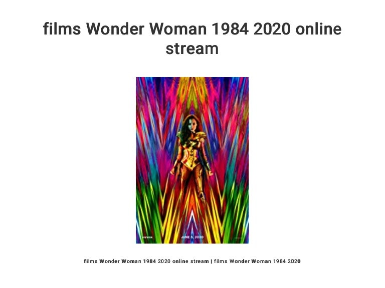 films Wonder Woman 1984 2020 online stream