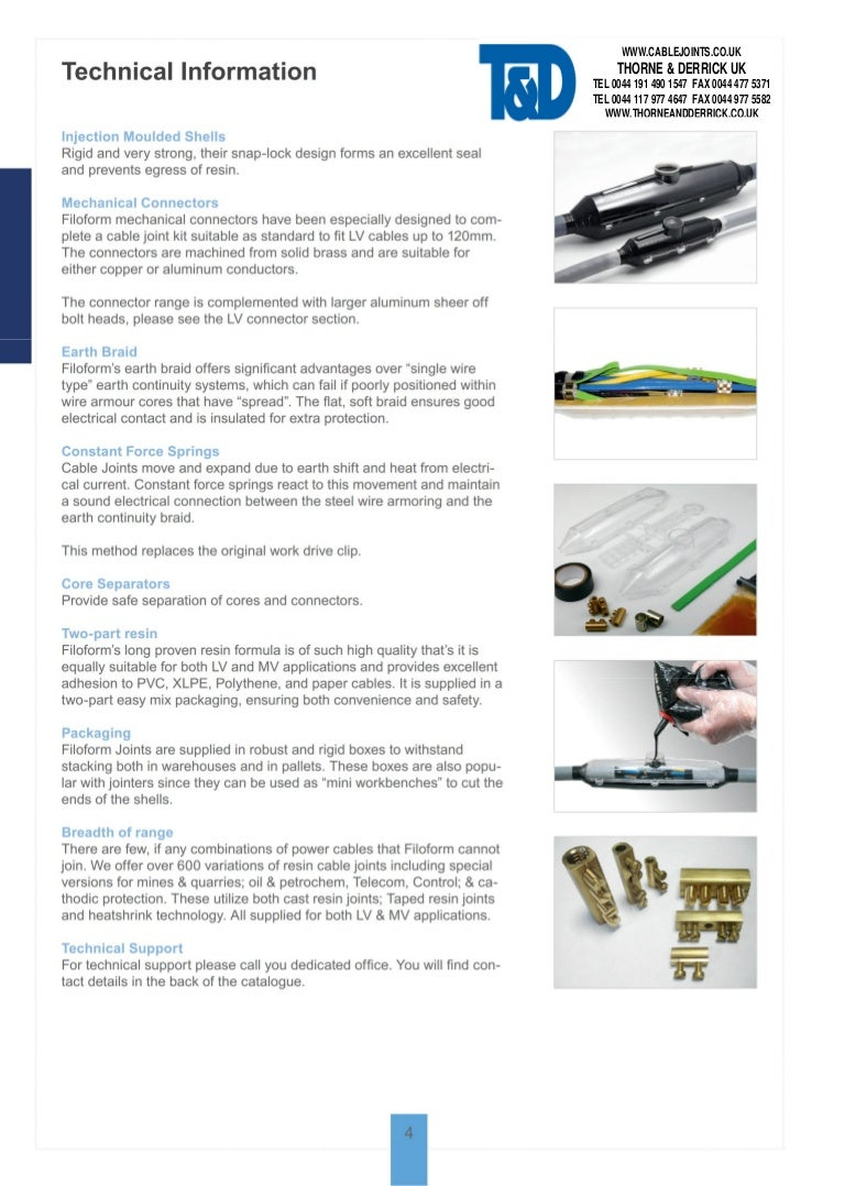 Filoform Cable Joints - Cast Resin Cable Jointing Kits