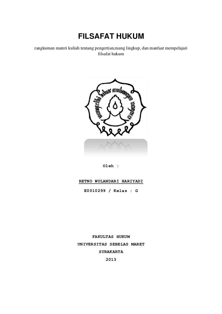 Filsafat Hukum Pengertian Ruang Lingkup Manfaat