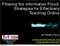 Filtering the Information Flood: Strategies for Effectively Teaching Online