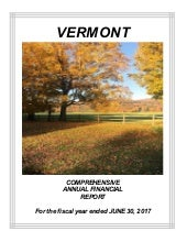 VT Fiscal Year Ended 2017 Comprehensive Annual Financial Report