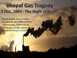 Bhopal Gas Tragedy- The Night of Death