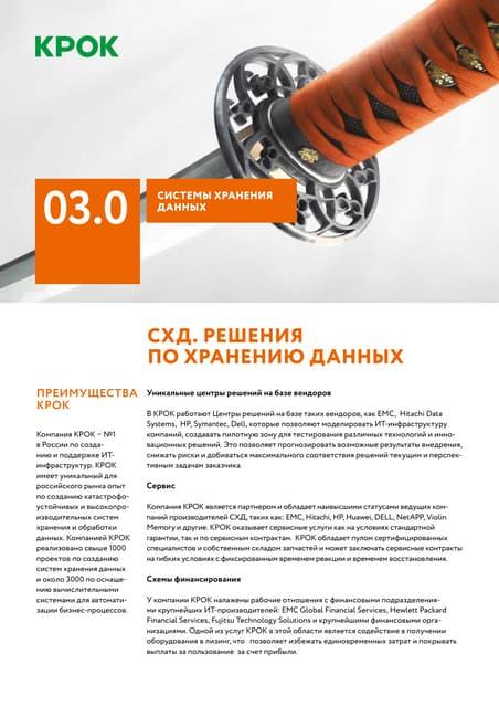 03.0 Системы хранения данных