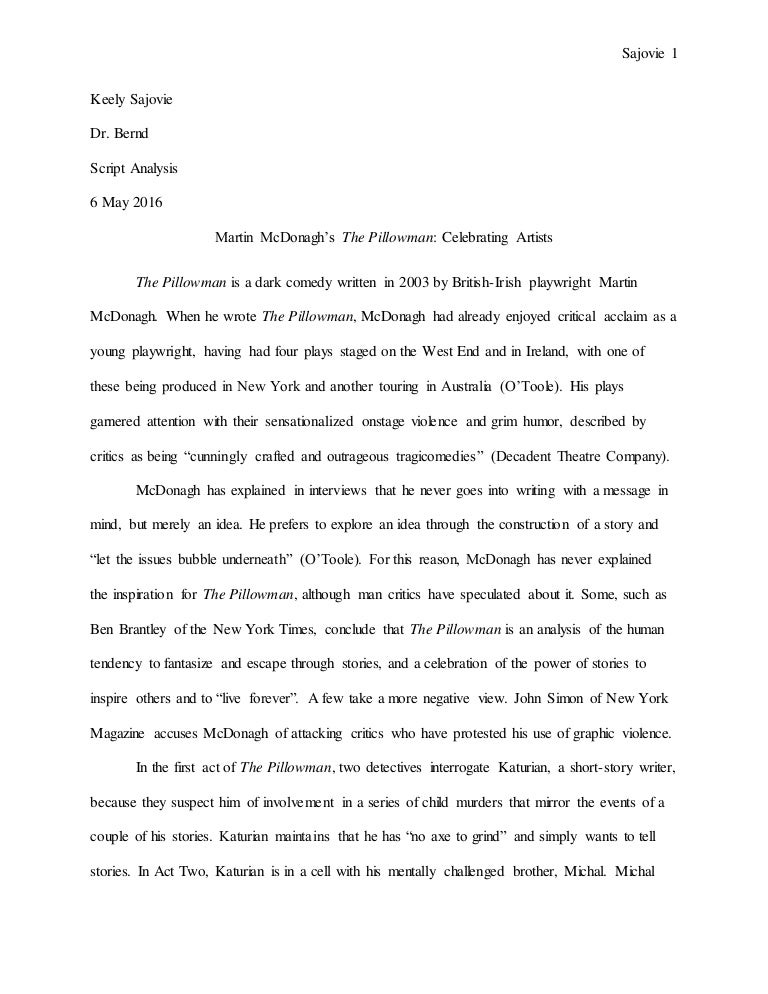 the pillowman martin mcdonagh script