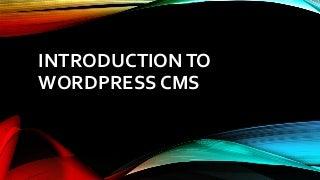 Introduction to WordPress CMS