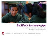 BackPack Fundraising App for Schools