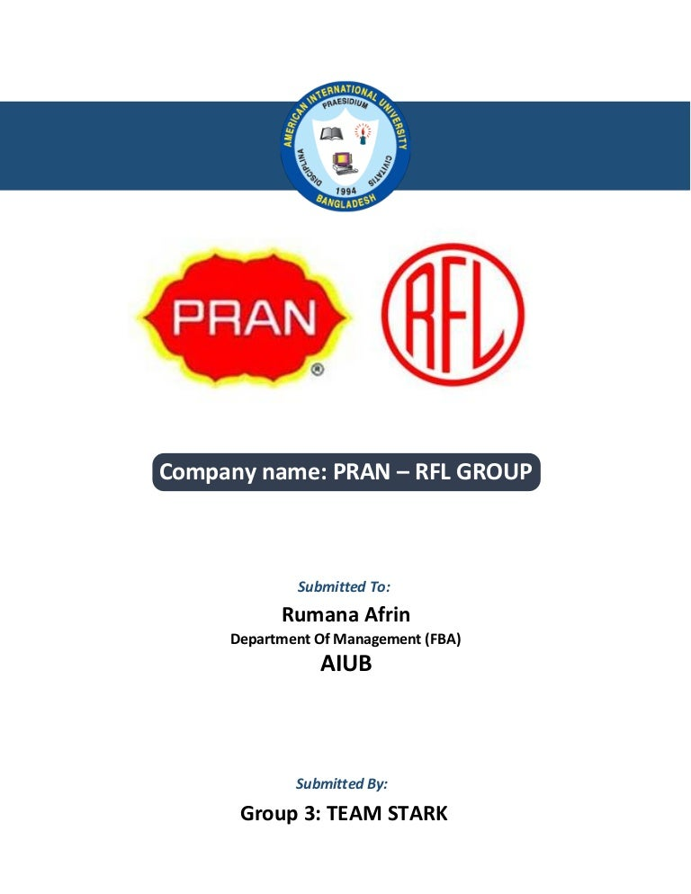 Report on PRAN-RFL group