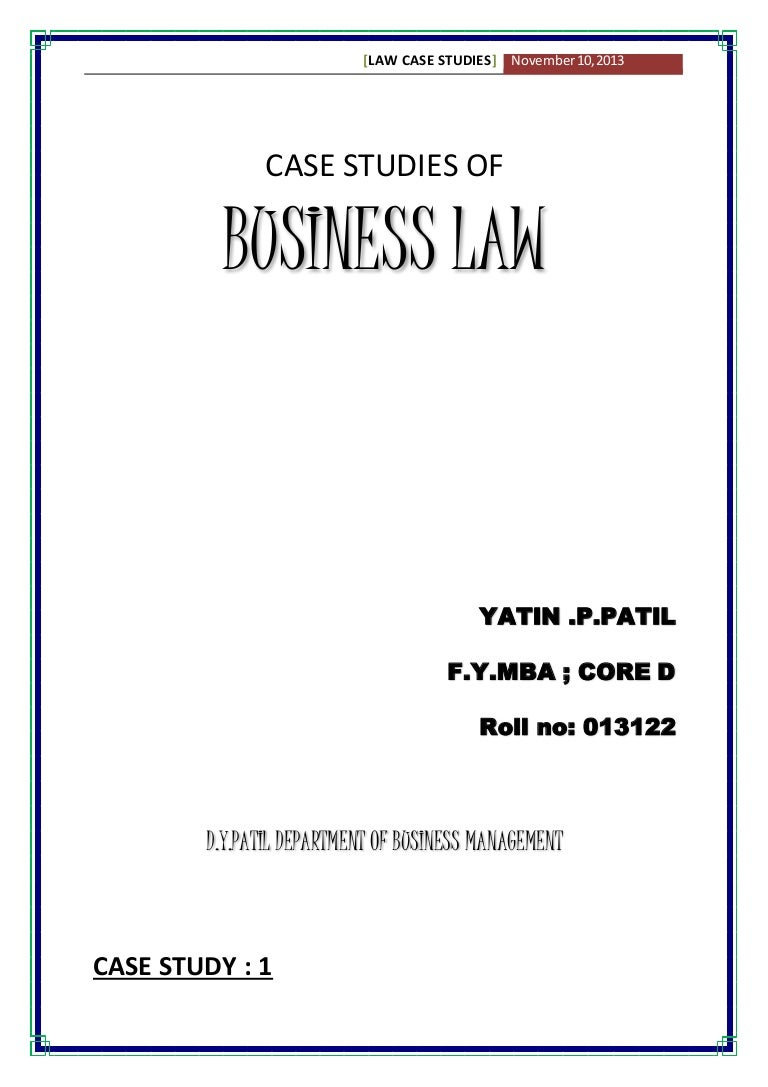 business law case studies solution