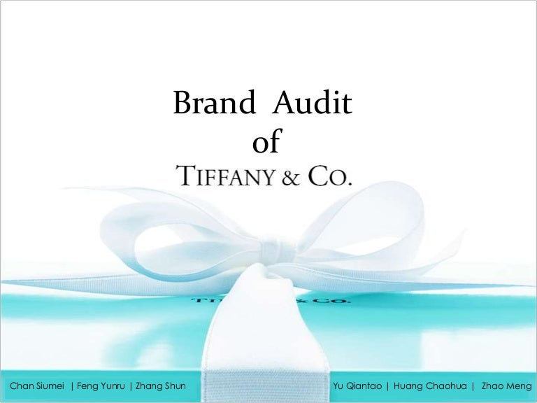 0802053ae6964 Tiffany   Co. Brand Audit