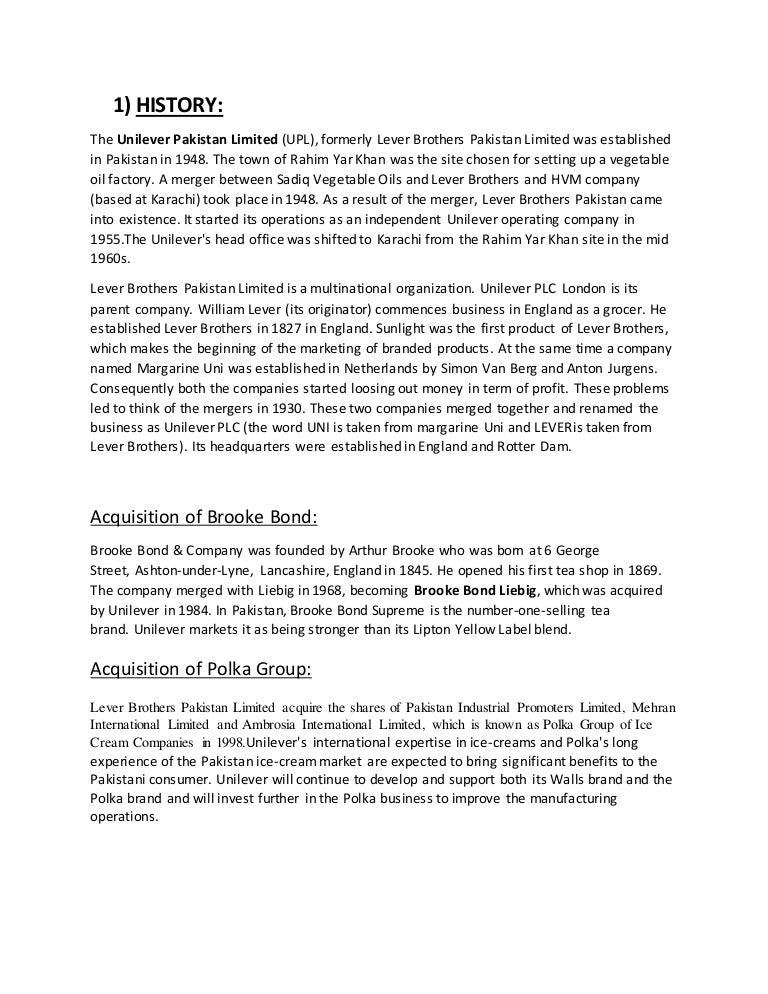 lipton tea and brooke bond merger