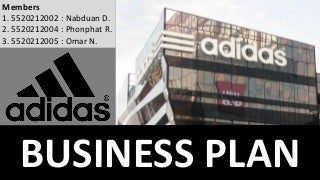 Business Plan For Adidas