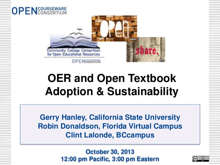 Oer and open textbook adoption and sustainability fandeluxe Images