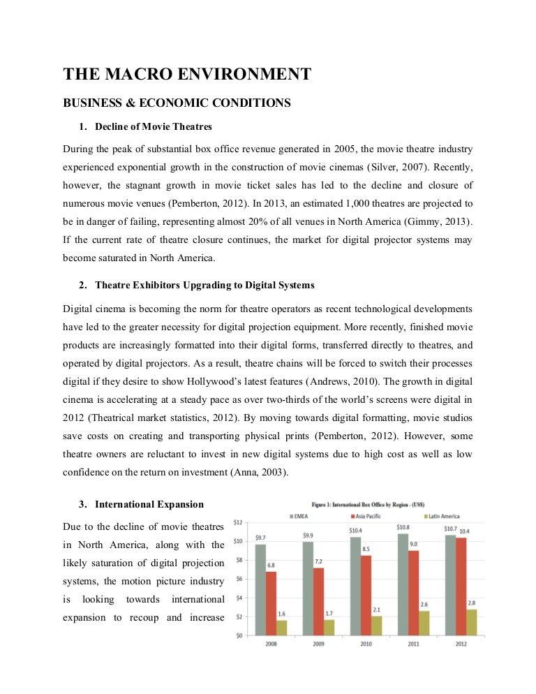 Analysis Of Macro Environment Impacting Movie Theatre Industry